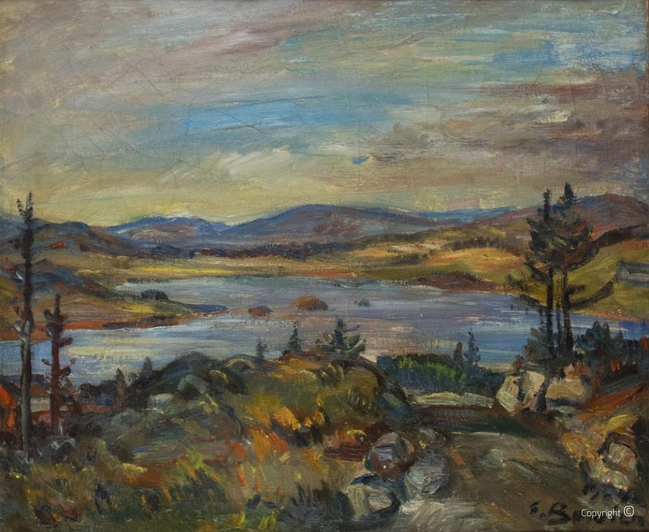 Norwegische Landschaft mit See, 1964