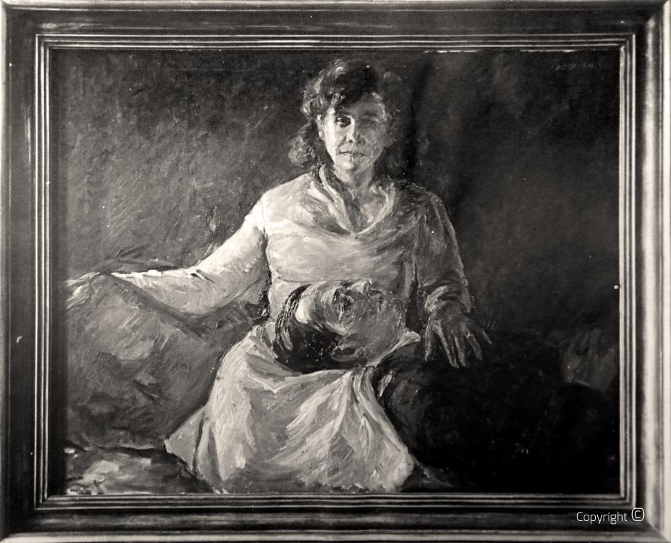"""Geraubt – Werkverzeichnis N° 57 – Bildnis Erna und Hanns Heinen ( Bekannt als """"Nachtbild""""), Öl, 1931 – das Werk wurde 2006 bei einem Einbruch in Solingen geraubt"""