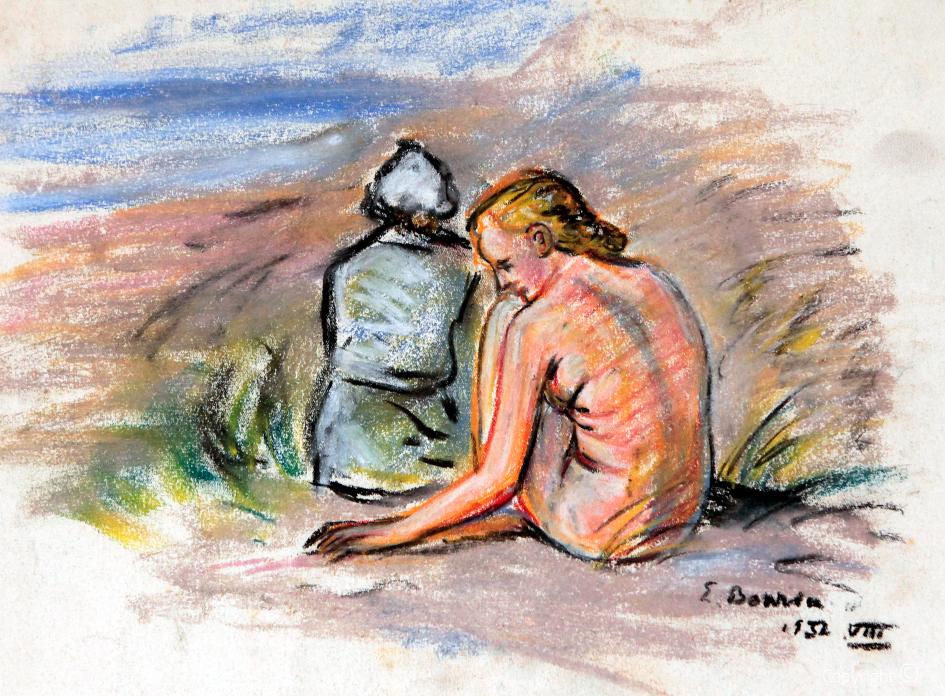 Akt in den Dünen, 1932