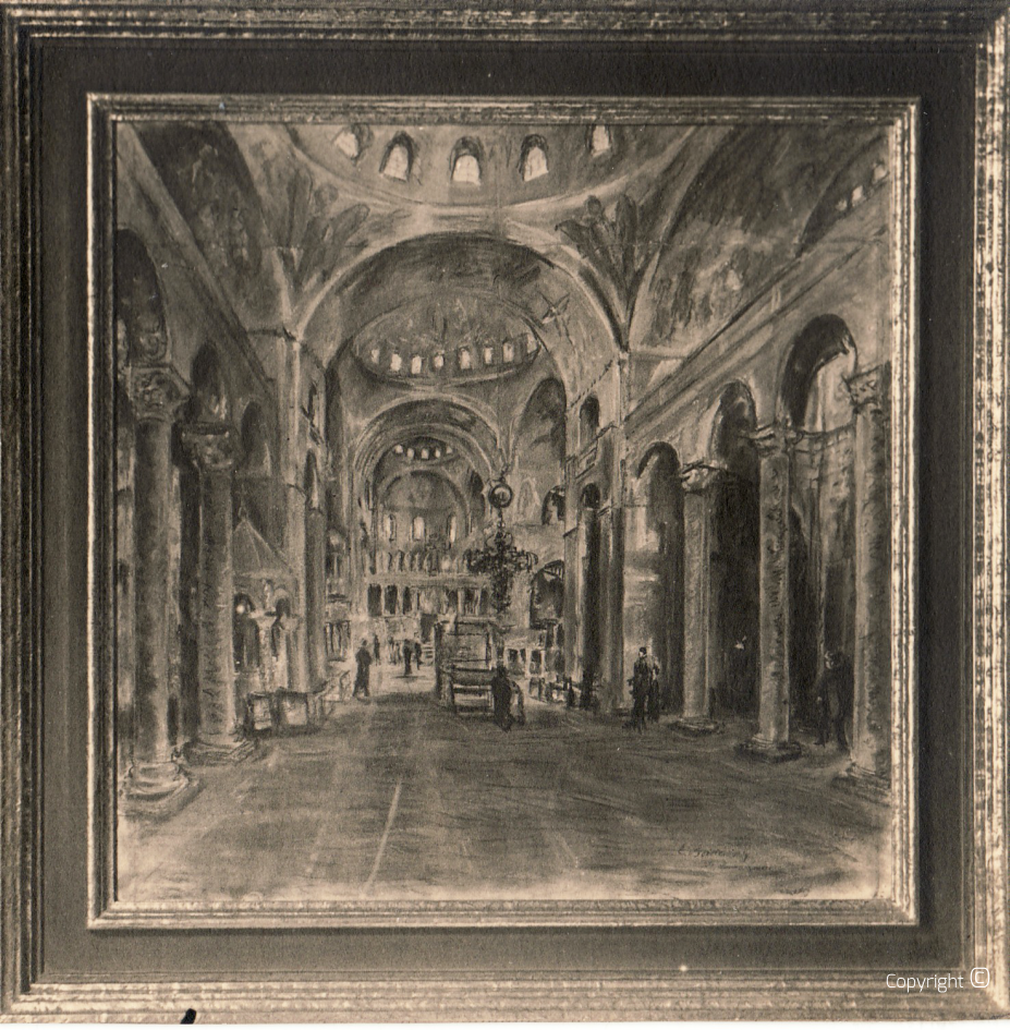 Lost - Interior view of St. Mark's Basilica in Venice, ca.1928