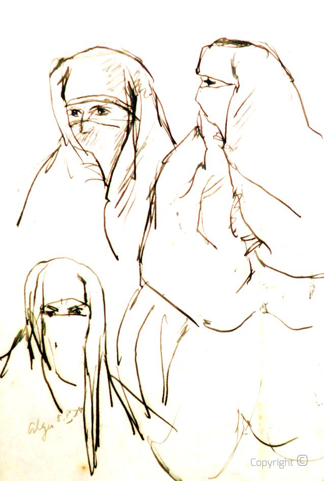 Frauen von Algier, Studie 1934