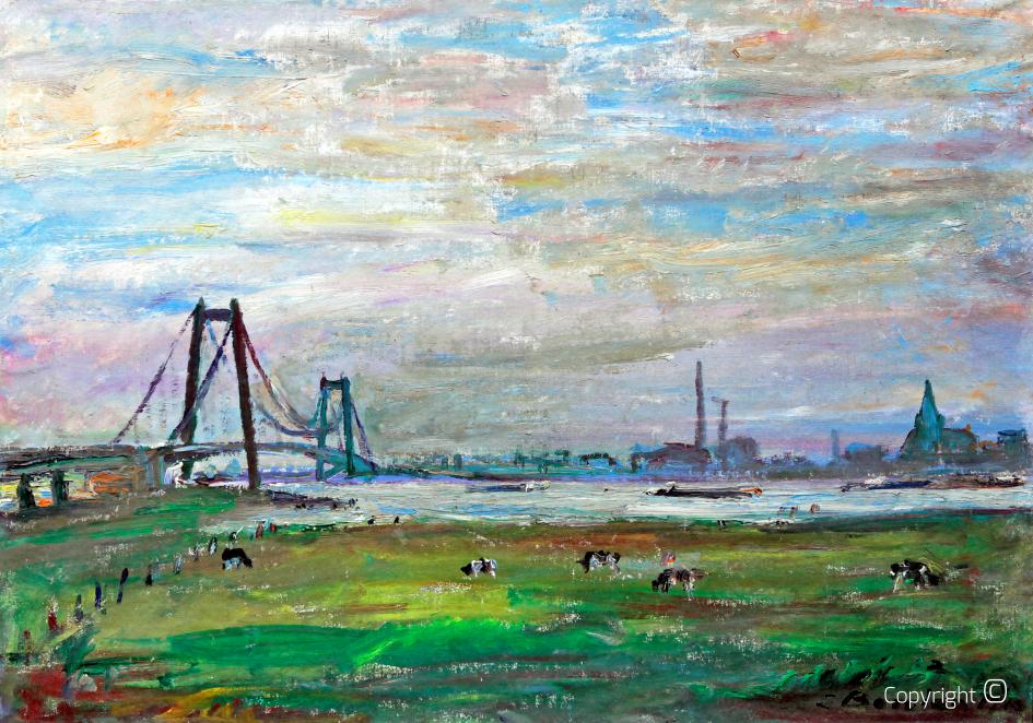 Werkverzeichnis N° 666 - Rheinbrücke bei Kleve, 1963
