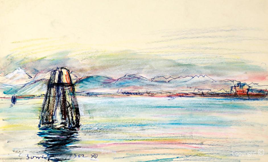 Die Lagune von Venedig, 1952