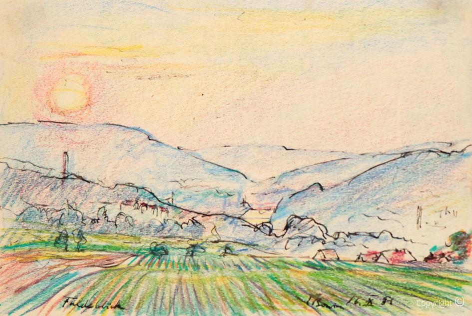 Landschaft im Markgräfler Land, 1952