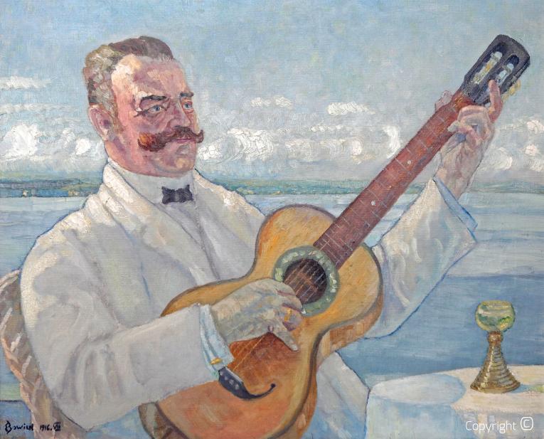 Werkverzeichnis N° 06 - Bildnis vom Vater Erich Bowien mit 16 Jahren gemalt