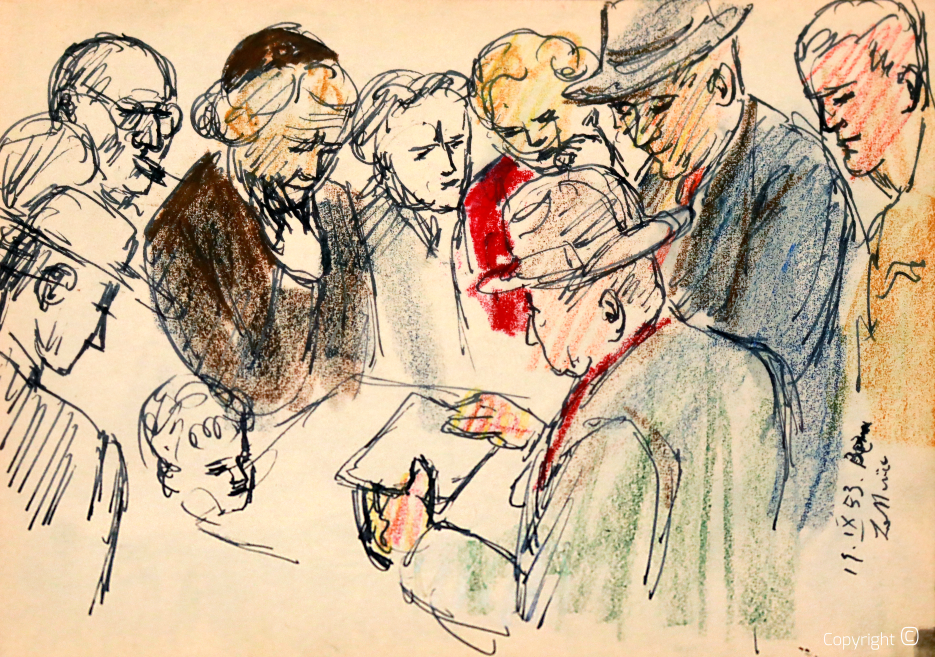 Gruppenstudie in Bern, 1953