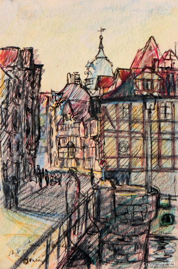 Stadtvedute in Hannoversch Münden, 1958