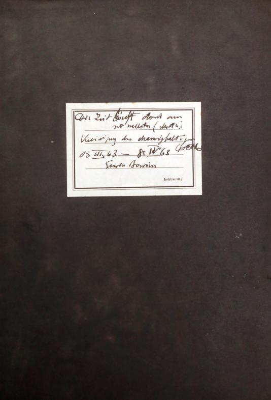 """Erwin Bowien (1899-1972): Tagebuch aus dem Jahre 1963 mit dem Titel """"Die Zeit vergeht dort am Schnellsten"""""""