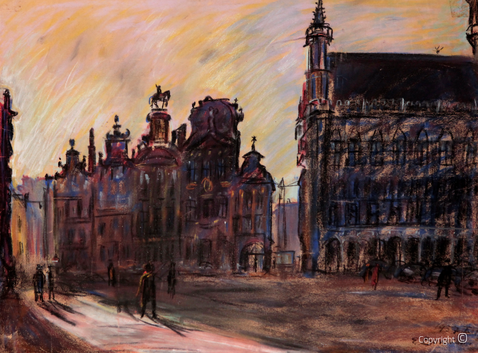 Catalog of Works N ° 1468 - La Grand'Place de Bruxelles, 1957