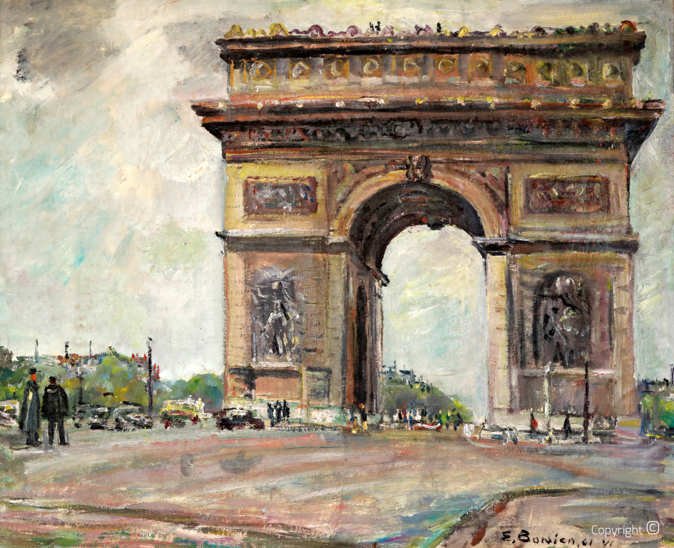 Arc de Triomphe in Paris, 1961