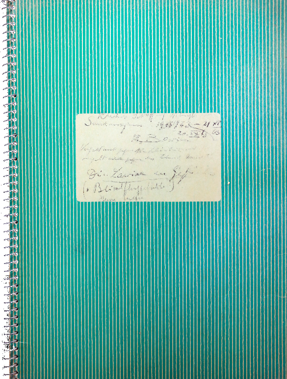 """Erwin Bowien (1899-1972): Diary from 1963 with the title """"The Avalanche of Emotions"""""""