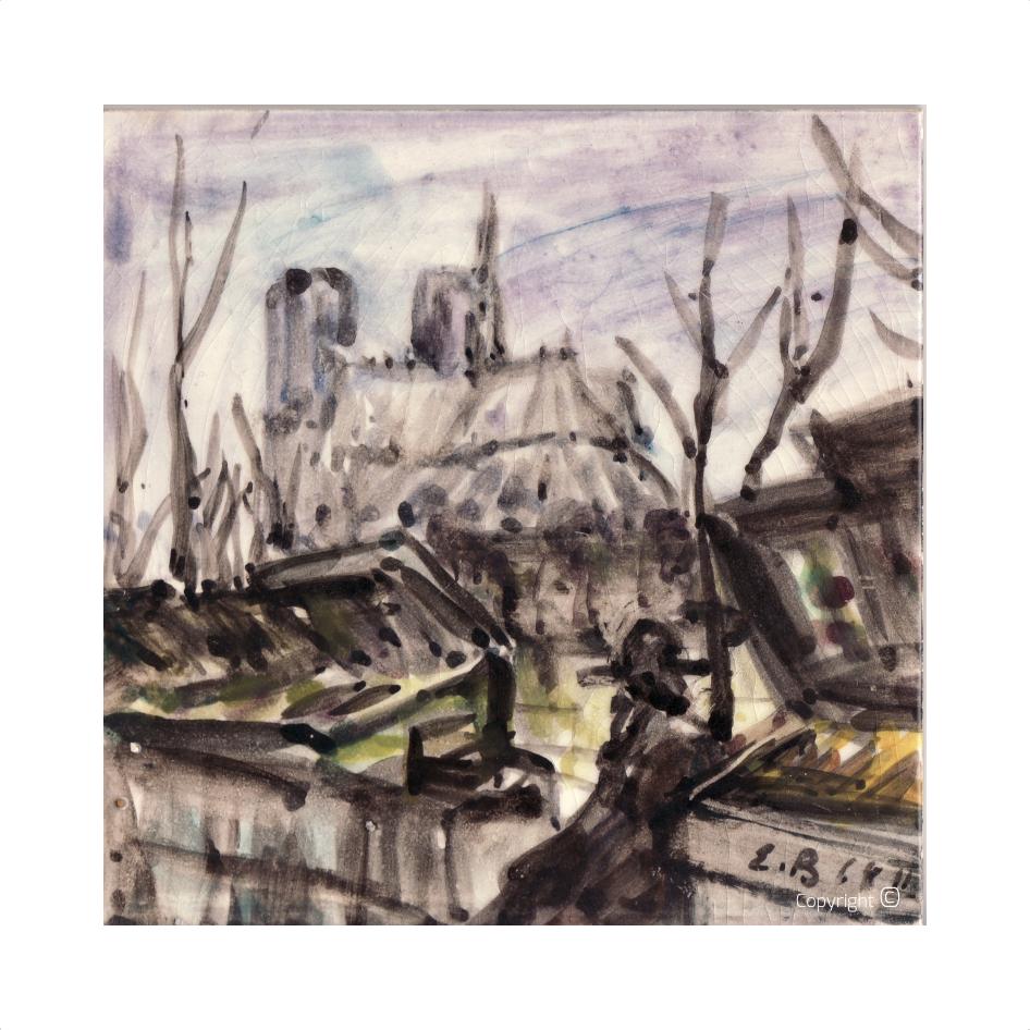 Catalog of Works N ° 2759 - Notre Dame de Paris, 1964