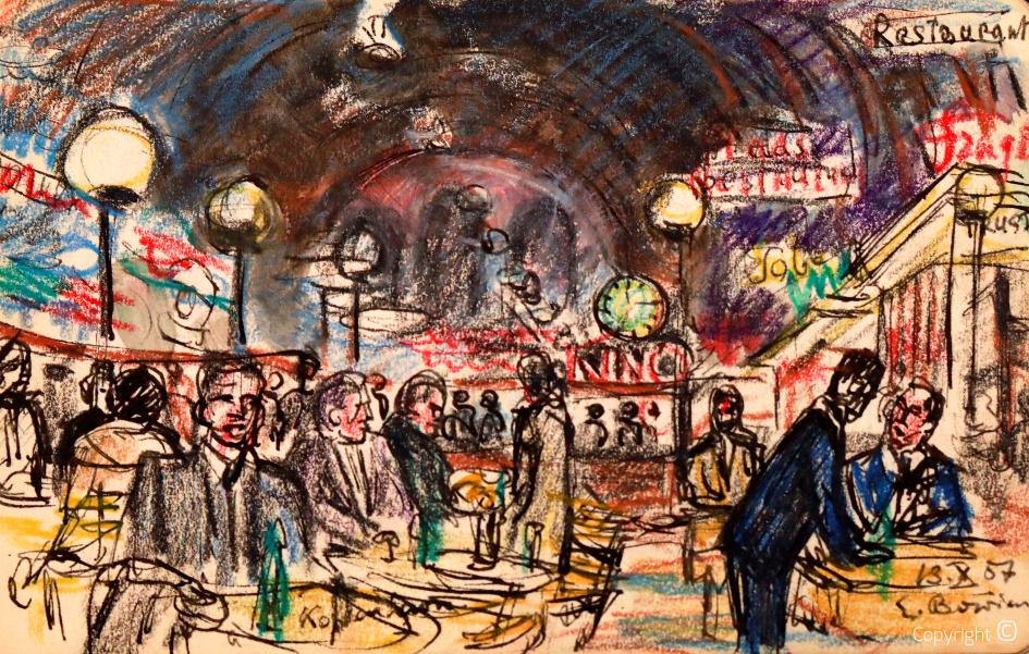 Erwin Bowien (1899-1972) – im Bahnhof Kopenhagen, 1957