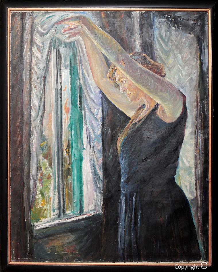 Werkverzeichnis N° 65 – Frau Erna Heinen – Steinhoff mit erhobenen Armen, 1932