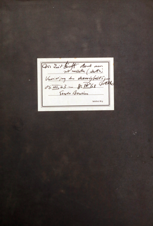 """Erwin Bowien (1899-1972): Diary from 1963 with the title """"Time goes by the fastest there"""""""