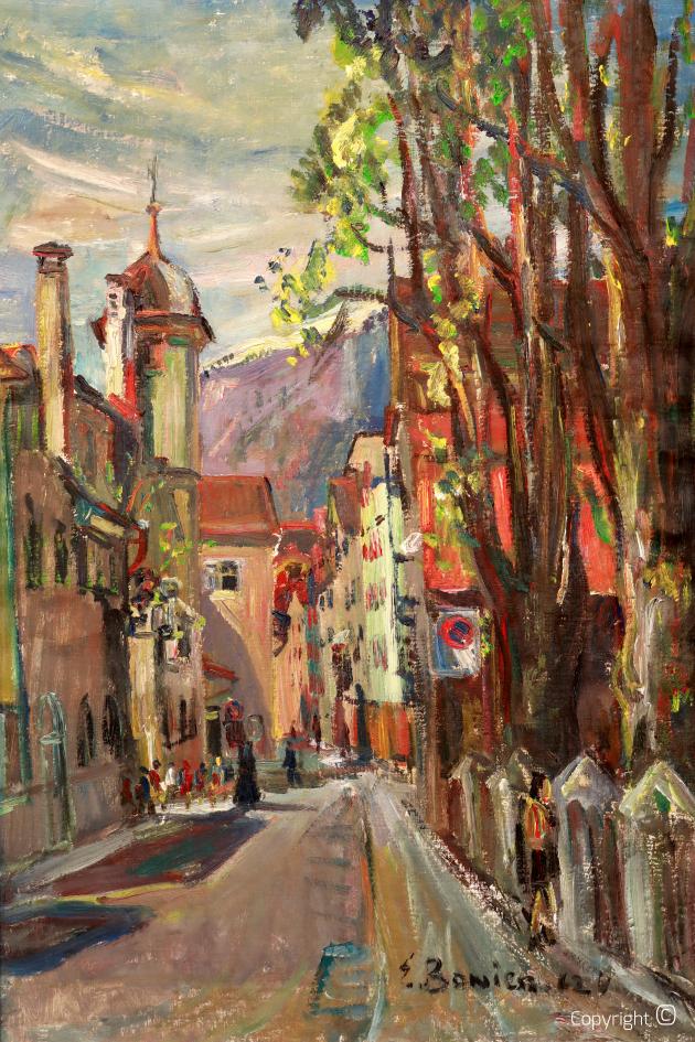 Street in Chur, 1962