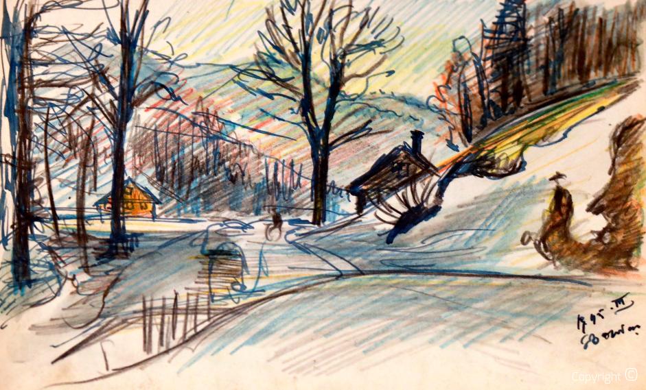 Ansicht von Kreuzthal-Eisenbach, 1945