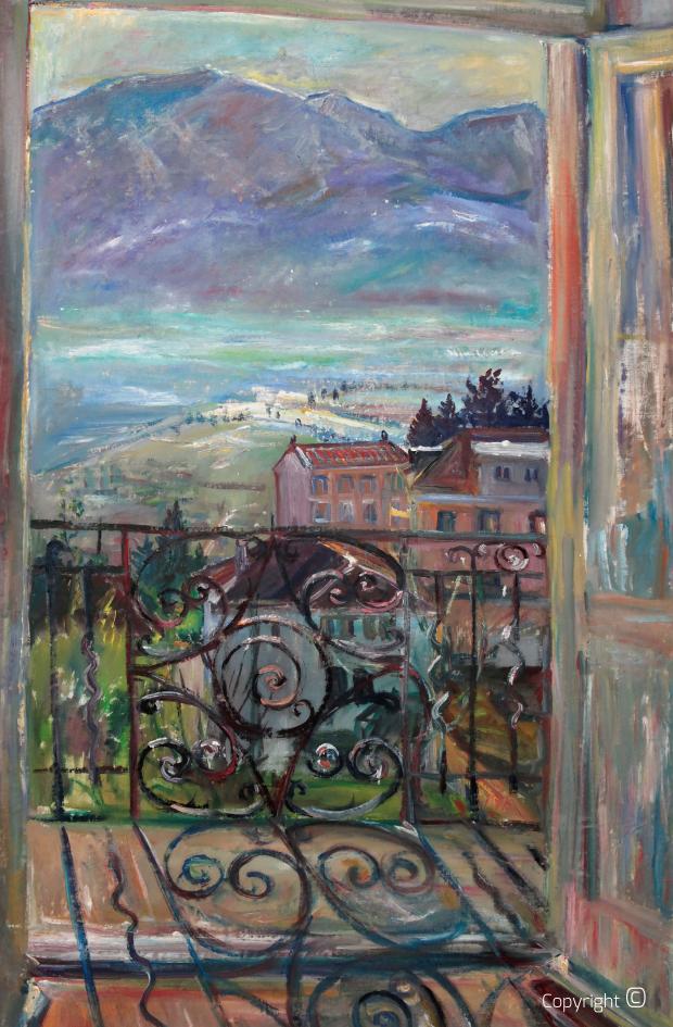 Werkverzeichnis N° 643 – Balkonaussicht auf Locarno, 1962