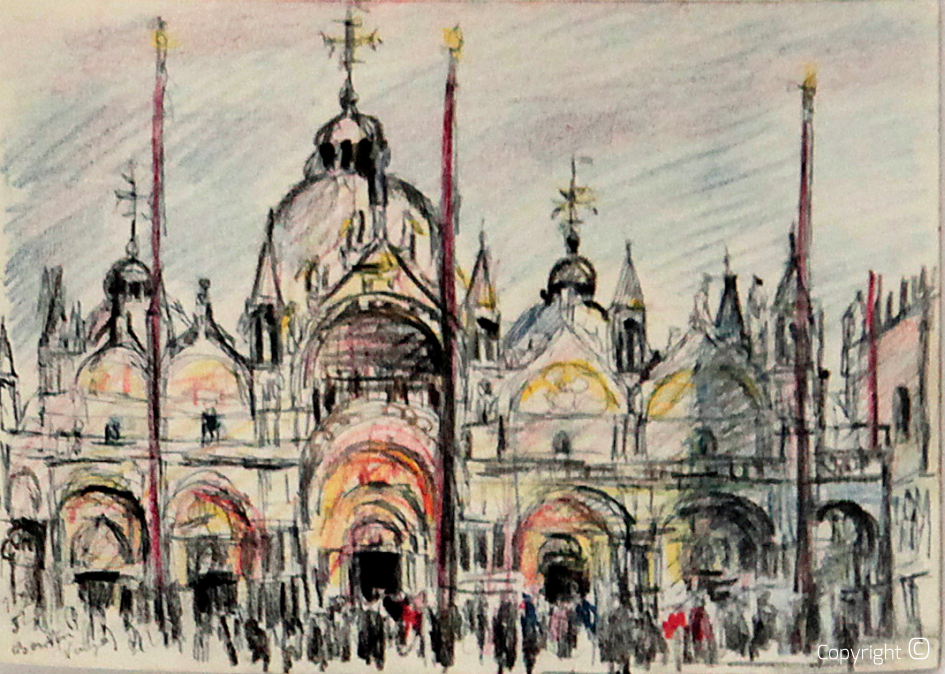 View of St. Mark's Basilica, 1952