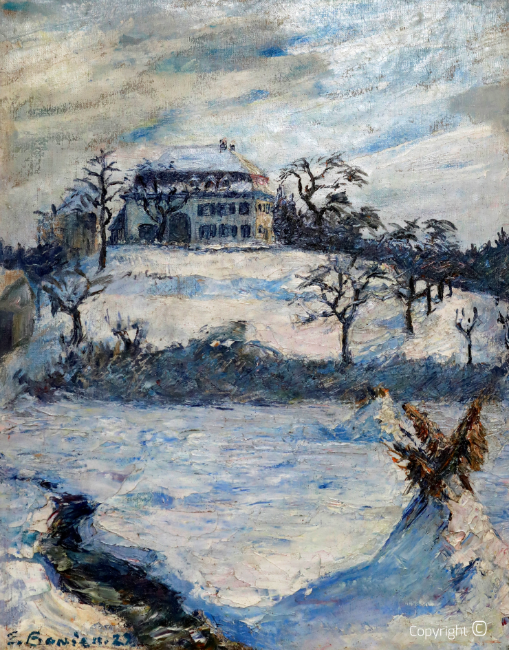Das Schloss Killenberg im Winter, 1922