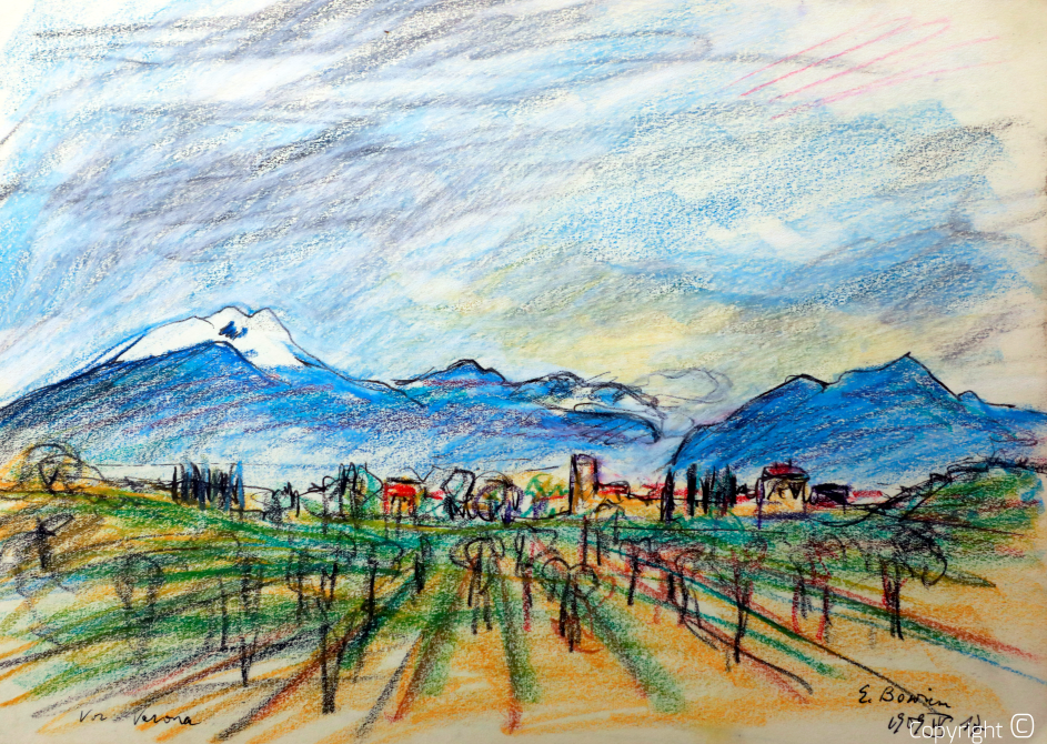 Landschaft bei Verona, 1954