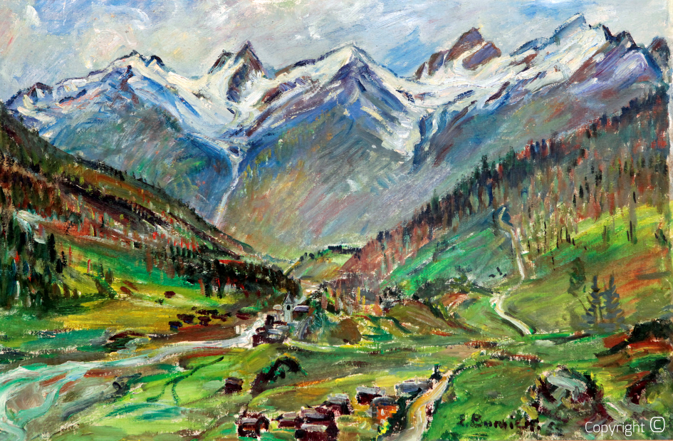 Catalog of Works N ° 406 - Braunwald, view of the Tödi massif, 1955