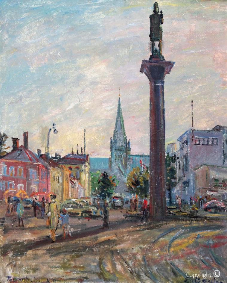 Stadtansicht von Trondheim, 1961