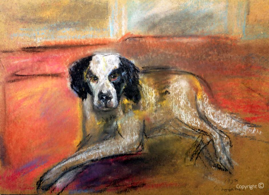 Studie für die Darstellung eines Hundes, 1934