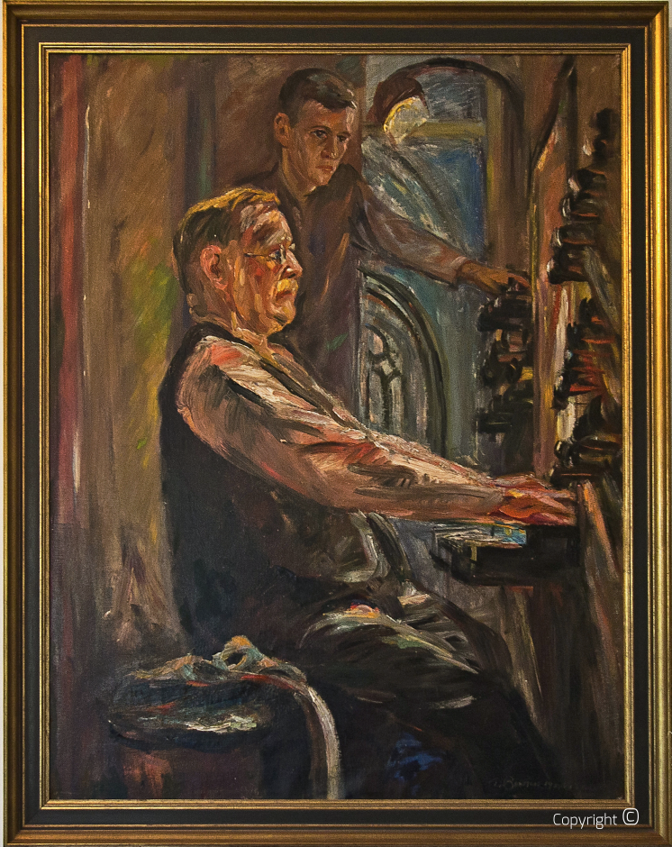 Portrait of the musician and cantor Jan Zwart, 1930s