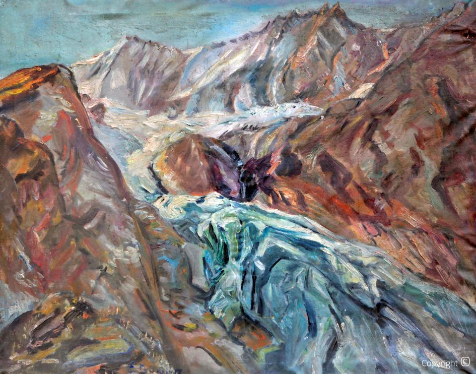 Im Schweizer Hochgebirge, ca. 1960