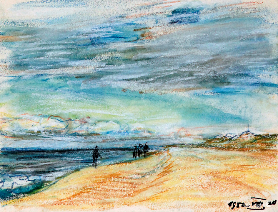 Beach impressions on Sylt, 1952