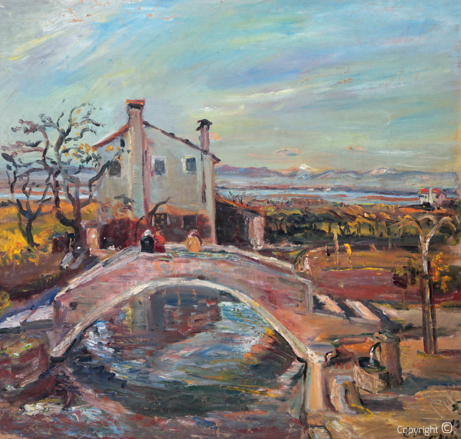 Catalog of Works N ° 328 - Bridge in Torcello near Venice, 1952