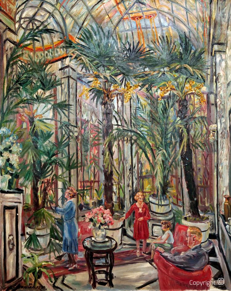 Werkverzeichnis N° 67 – Wintergarten einer Solinger Fabrikantenfamilie, 1933