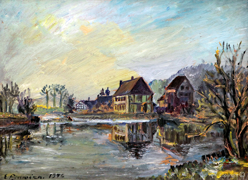 Catalog of Works N ° 211 - Wipperkotten an der Wupper, oil, collection of the Stadtsparkasse Solingen, 1946