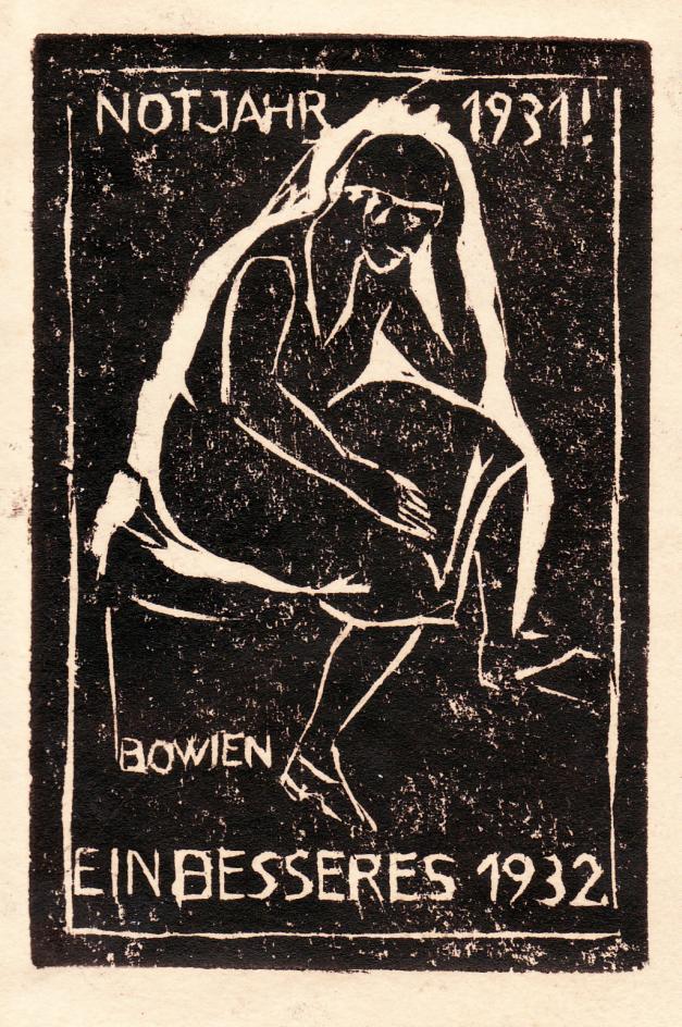 Woodcut Notjahr, 1931