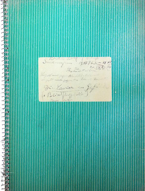 """Erwin Bowien (1899-1972): Tagebuch aus dem Jahre 1963 mit dem Titel """"Die Lawine der Gefühle"""""""
