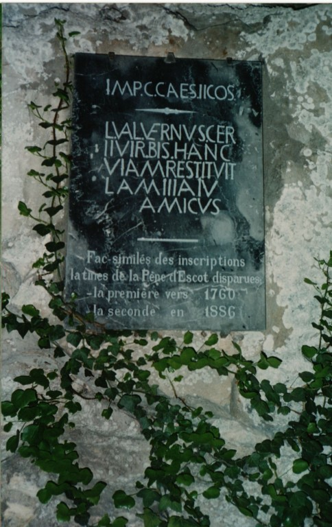 fac-simile inscription romaine