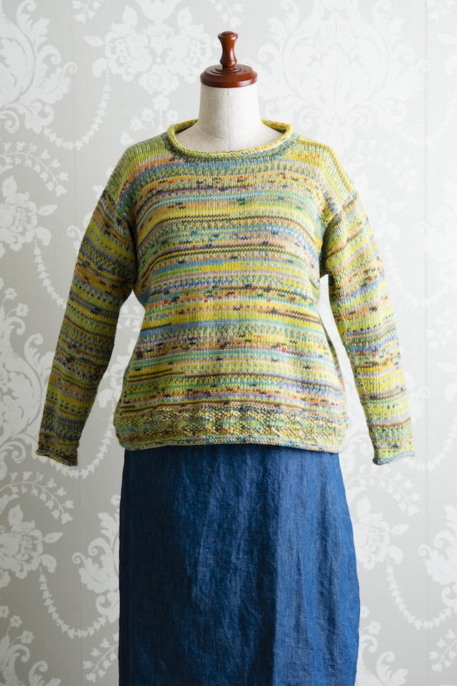 ラウンドネックセーター03