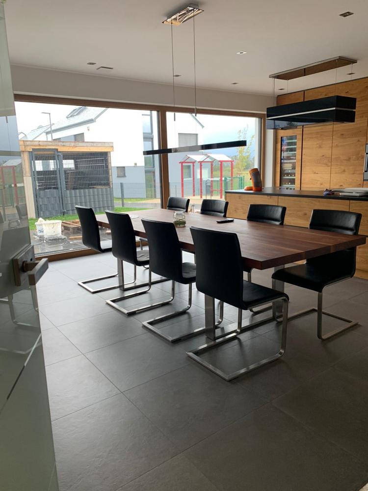 Küchenbereich mit Blick auf unser Außengehege