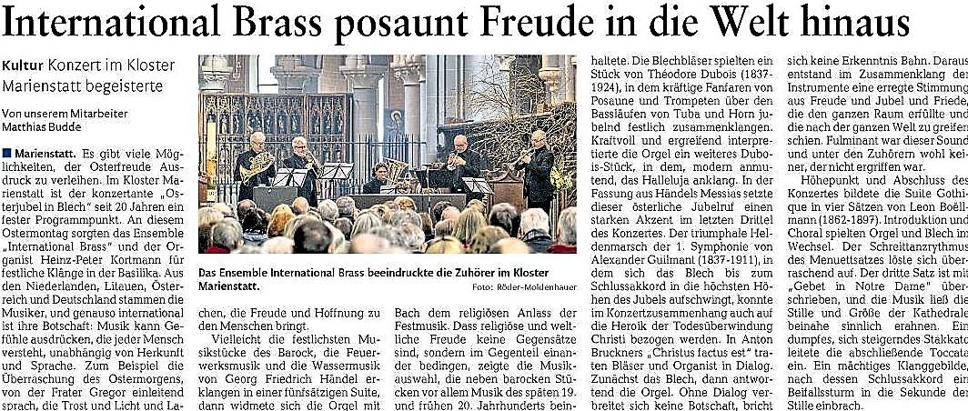 Westerwälder Zeitung 4. April 2018 - Artikel zum Vergrößern einfach anklicken.