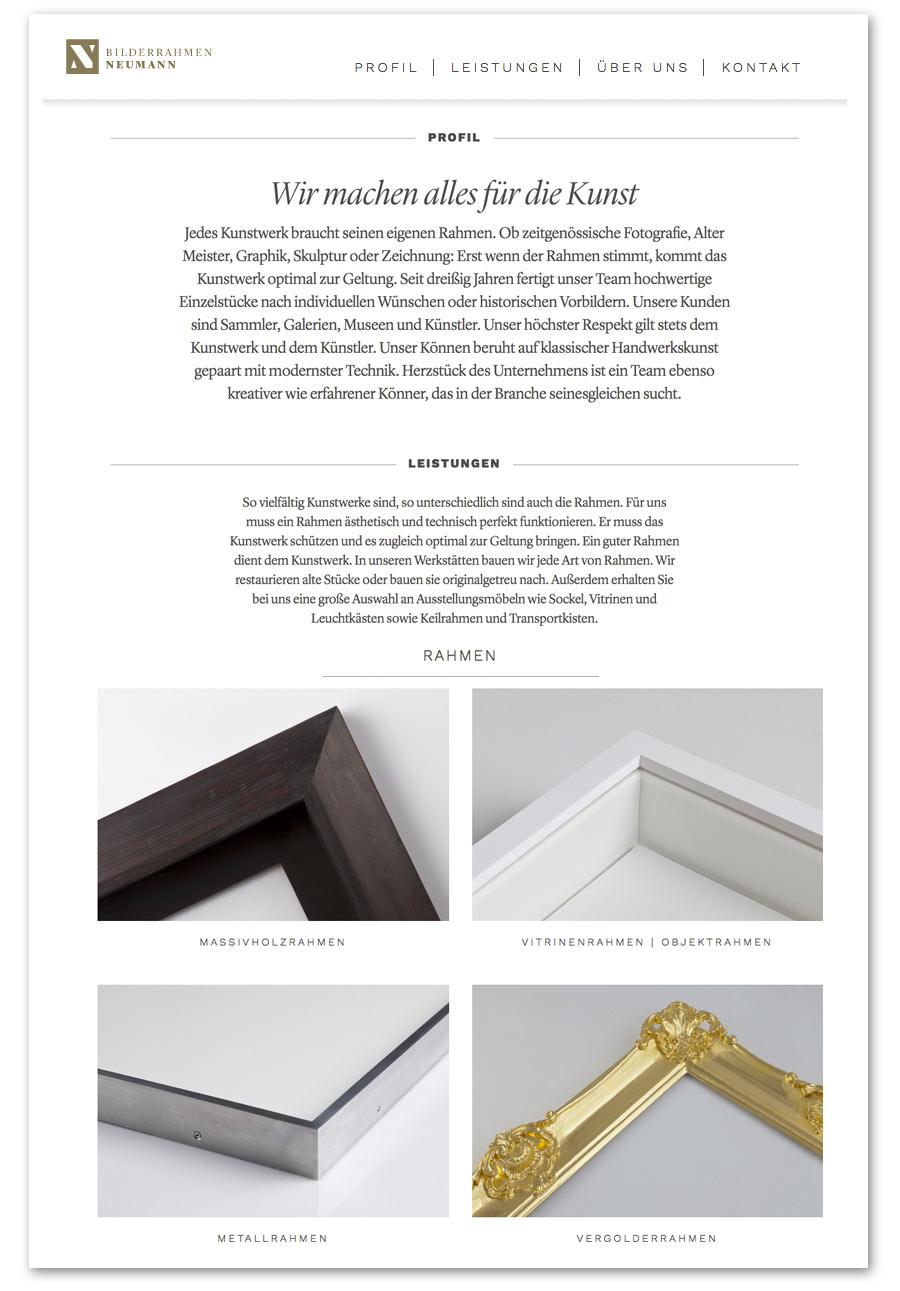 Bilderrahmen Neumann - artcadia-gallerys Webseite!