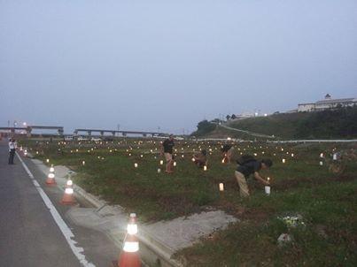 2013.8.15 旧小泉地区に灯る光