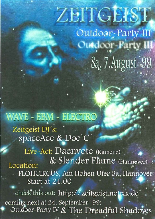 1999: Zeitgeist Outdoor-Party