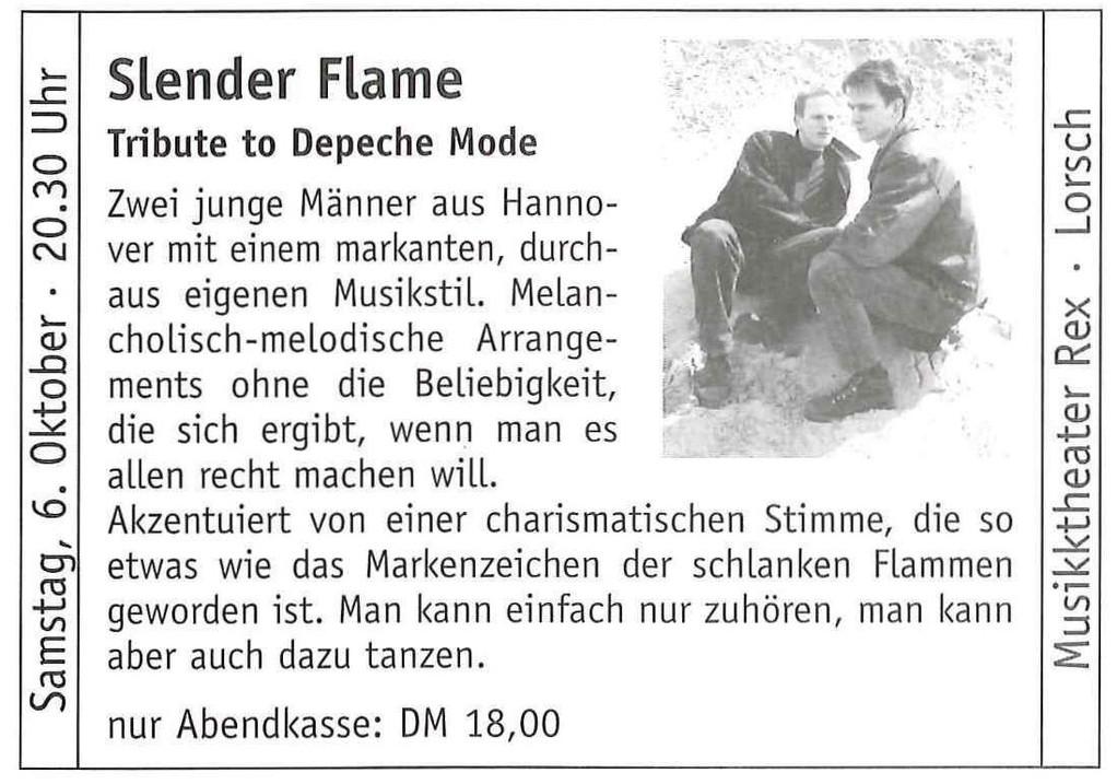 2001: Auftritt im Musiktheater REX in Lorsch (bei Darmstadt)