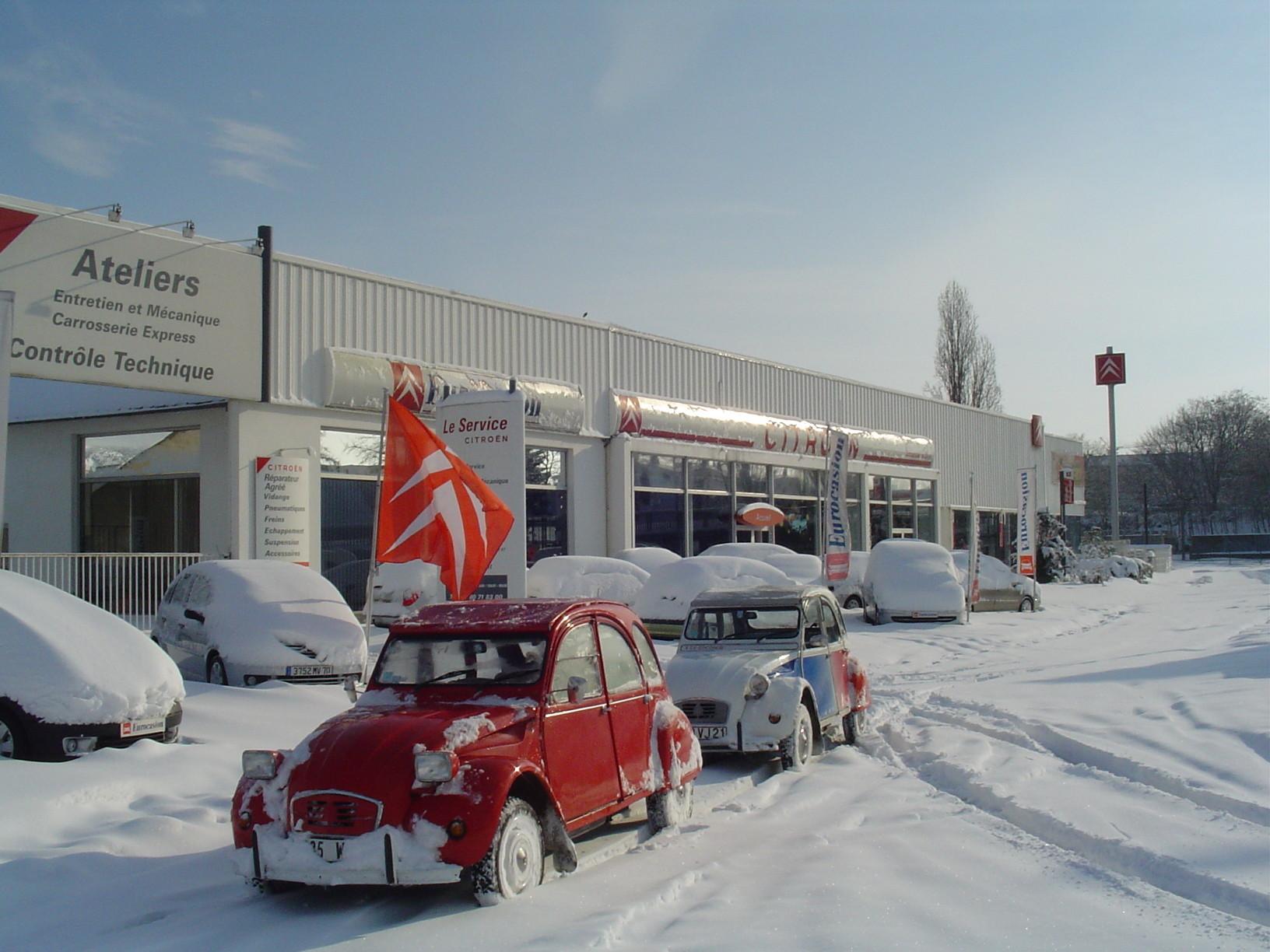 Citroën sous la neige...