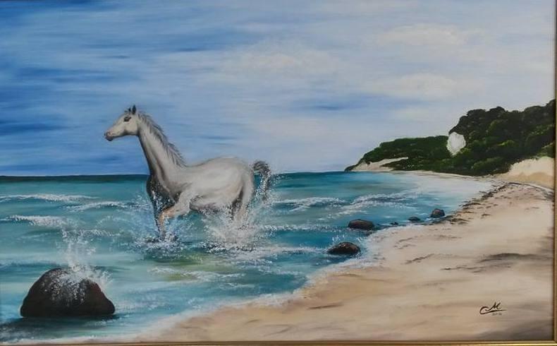 Pferd an der Kreideküste