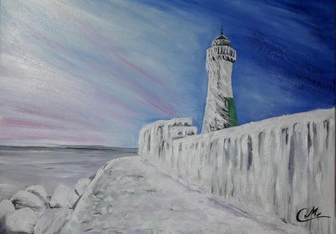 Leuchtturm Sassnitz im Winter
