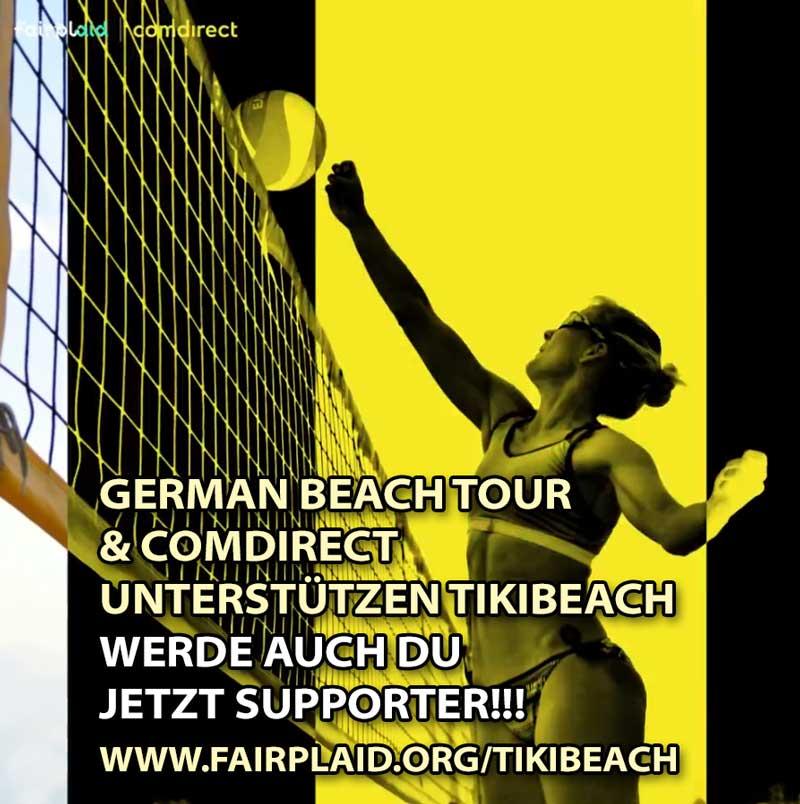 German Beach Tour unterstützt TIKIBEACH