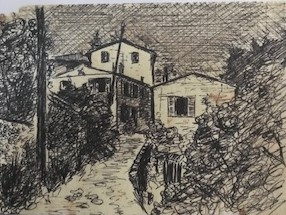 Sketch of Nina's house in Haute-de-Cagne in 1959. (courtesy of Sue Ellery-Hill)