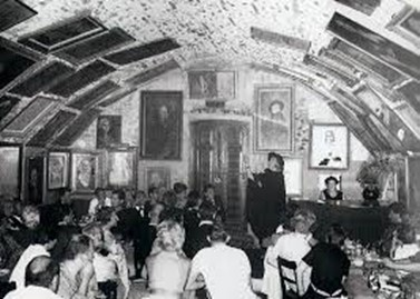 Suzy Solidor's Cabaret in Cagne-sur-Mer, where Nina worked with her, running the bar in the 1960s. Suzy is standing at the back. (Photo: Sue-Ellery-Hill)